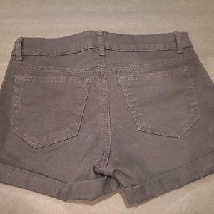 H&M Girls Black & White Twill Shorts